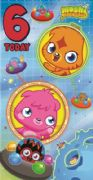 Moshi Monsters Age 6 Birthday Card
